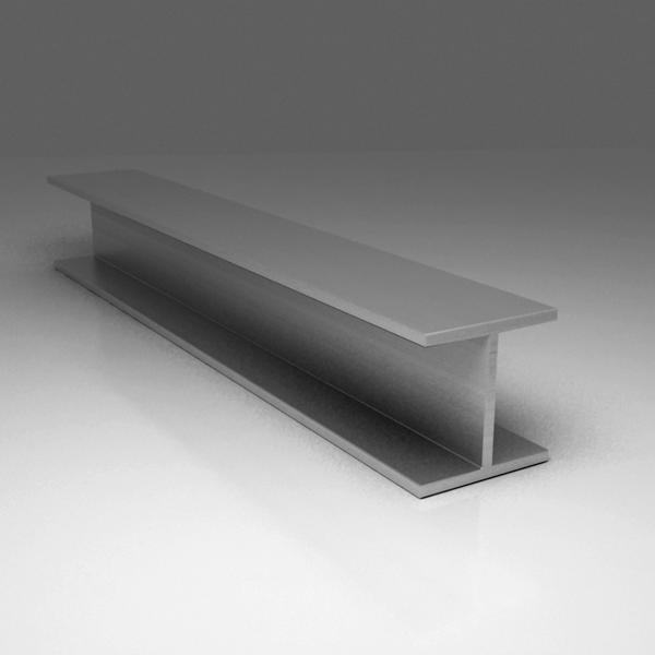Н-образный алюминиевый профиль (двутавр)